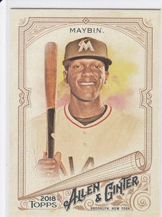 2018 Topps Allen & Ginter Cameron Maybin Miami Marlins Sports Card No 4 Baseball Cards For Sale, Miami Marlins, Vintage World Maps, Shape, Sports, Hs Sports, Sport