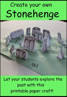 Stonehenge paper craft for world history exploration Middle Ages History, History For Kids, Teaching Kids, Kids Learning, Teaching Resources, History Activities, Activities For Kids, Formative And Summative Assessment, Ancient History
