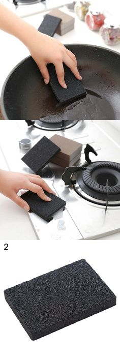 1 PC Kitchen Nano Emery Magic Clean Rub Pot Rust Focal Stains Sponge Removing Kit Kitchen Cleaning Tools