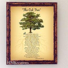 The Oak Tree Poem Wall Art Nature Wall Art by HMKreations