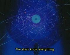 blue, stars, and dark image