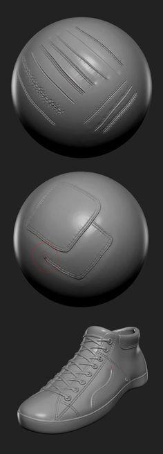 ArtStation - 16 Custom Seam/Stitch brushes for zBrush, Daniel Palmi Zbrush Tutorial, 3d Tutorial, Digital Art Tutorial, Blender 3d, Zbrush Character, Character Art, Character Design, Zbrush Models, Digital Sculpting
