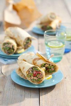 Recept voor tonijnwraps met rucolamayonaise