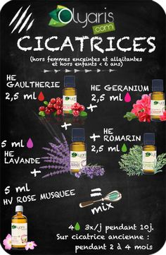 Le Remède pour Effacer les Cicatrices grâce aux Huiles Essentielles Olyaris The remedy for scars with essential oils of Olyaris Natural Health Remedies, Herbal Remedies, Heath Care, Sport Diet, Oil Mix, Naturopathy, Beauty Recipe, Natural Cosmetics, Nature