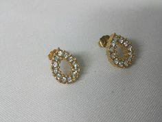 Avon Plaza pierced earrings Mint Condition 1988 wedding