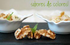 Sabores de colores: Pera salteada con queso azul y nueces