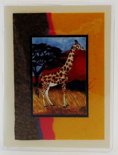 Great design for your trip to Africa. Available at www.passportcoversandmore.com $12 #passportcover #giraffe #madeintheUSA #art #animallovers #jadesmenagerie #giftideas
