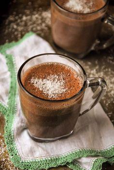 Creamy Vegan Coconut Hot Chocolate//thefrostedvegan.com