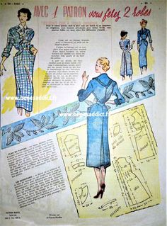 Understanding The Vintage Sewing Pattern - Sewing Method Free Sewing, Vintage Sewing Patterns, Clothing Patterns, Barbie Vintage, Vintage Diy, Techniques Couture, Sewing Techniques, Patron Vintage, Blog Couture