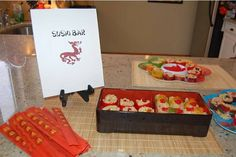 Lego Ninjago Party Rice Krispies Sushi