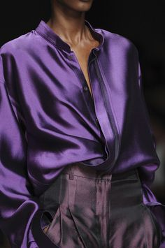 @Kathleen S S DeCosmo ♡ ♡ ♡ Heider Ackerman - Like this purple blouse