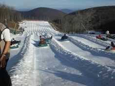 Tubing at Wintergreen Resort - about an hour from Lynchburg