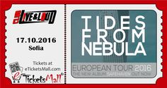 Tides From Nebula Live in Sofia, Bulgaria on October 17th, 2016 at Club Live & Loud! ‪#‎Tickets‬ available online to fans worldwide at https://www.eticketsmall.com/product_info.php?products_id=640