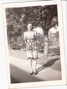 "Mary ""Bonnie"" Baker in a photo she sent to her husband while he was overseas."