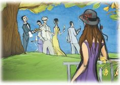 Illustration from The Garden Party by Katherine Mansfield. Bring Spring to your Book Club! Helbling Readers Blog. ©Helbling Languages