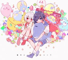 Definitely a Good Child etc. - After the Rain Anime Chibi, Kawaii Anime, Kawaii Art, All Anime, Anime Art, Vocaloid, Chibi Food, Cute Anime Boy, Cute Chibi