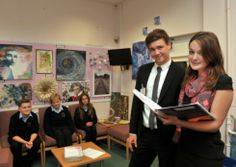 Student takeover day at Farlingaye High School in Woodbridge. Students had the opportunity to experience all aspects of school life from bei...