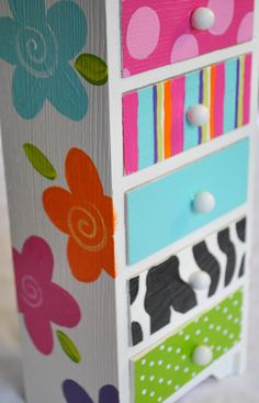 Painted Jewelry Box Personalized Gift Flower by TheDecorativeBrush, $28.00