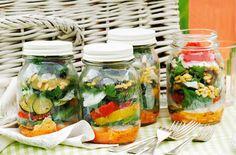 Summer salad jars
