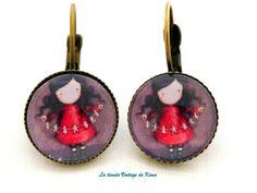Pendientes -Muñeca Gorjuss REF.200 de La Tienda Vintage de Kima por DaWanda.com