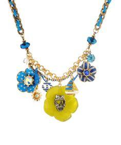 betsey johnson multi flower necklace