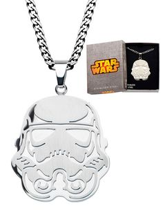 """""""Storm Trooper"""" Pendant with 24"""" Chain by Inox Jewelry #InkedShop #StormTrooper #necklace #jewelry #StarWars"""