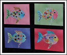 aquarium Rainbow fish art activity
