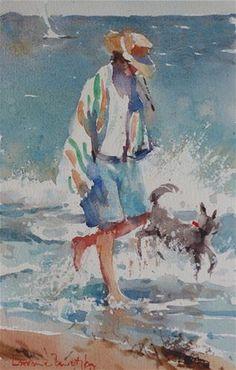 "Daily Paintworks - ""Midday walk"" - Original Fine Art for Sale - © Lorraine Lewitzka"