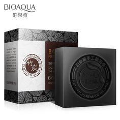 bamboo charcoal handmade soap remover blackhead acne skin whitening soap