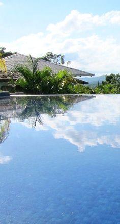 Infinity pool at Soma Surf Resort.