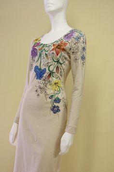Šaty - Béžové ....maľované - 3366938
