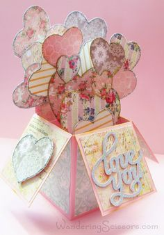 Wandering Scissors: Card in a Box Valentine