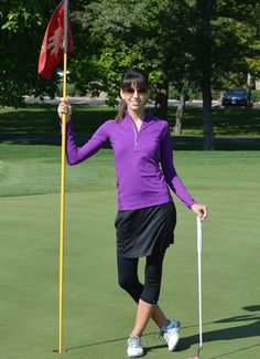 I love leggings for cold golf mornings w/ my skirts.