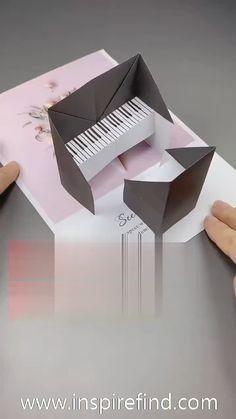 Diy Crafts Hacks, Diy Crafts For Gifts, Diy Home Crafts, Diy Crafts Videos, Craft Tutorials, Diy Projects, Paper Crafts Origami, Paper Crafts For Kids, Diy Paper