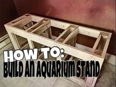 How I built my 8 foot long aquarium stand. Building a DIY aquarium stand is much easier than it seems. ...