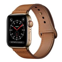 Genuine Leather Strap For Apple Watch band 4 3 iwatch 42mm 38mm 44mm 40mm pulseira correa Bracelet smart watch Accessories loop - Brown / 42mm or 44mm ML