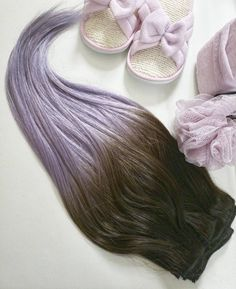 Sneak peak of the new 💜Lilac Ombre💜 Excited yet feeling the calm of the Lilac essence 👙🦉💅🌌 Lilac Hair, Hair Extensions, Calm, Feelings, Instagram, Weave Hair Extensions, Extensions Hair, Extensions, Purple Hair