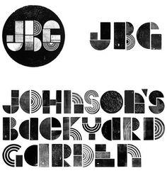 Johnson's Backyard Garden Logo and Identity