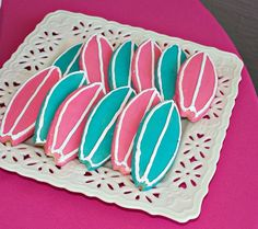 Cookies at a Backyard Beach Party #beach #partycookies