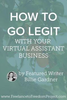 Youve started freelancing as a virtual assistant and want to grow. Its time to go legit! Heres what you need to know about becoming a professional with your virtual assistant business. Work From Home Moms, Make Money From Home, How To Make Money, How To Become, Home Based Business, Business Tips, Online Business, Business Products, Virtual Assistant Services