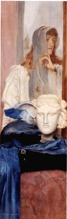 A Blue Wing, by Fernand Khnopff, Belgian Symbolist painter Henri Fantin Latour, Gustav Klimt, Figure Painting, Painting & Drawing, Pinturas Art Deco, Contemporary Artists, Modern Art, Rose Croix, Art Deco Paintings