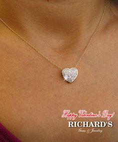 Pave Heart Diamond Necklace