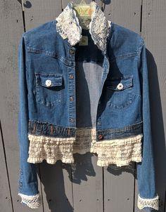 Romantic Vtg Lauren Ralph Lauren Denim Trucker Jean Jacket Pm Petite Medium Over-sized Coats, Jackets & Vests