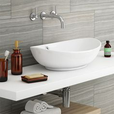 Ann's notes: very cheap basin 60 cm wide. Costa Counter Top Basin - Oval