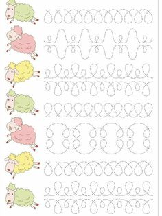 Trace the Dotted Lines Worksheets for Kids - Preschool and Kindergarten Preschool Writing, Numbers Preschool, Preschool Learning Activities, Teaching Kids, Kindergarten Math Worksheets, Math For Kids, Kids Education, Barn, Handwriting Worksheets