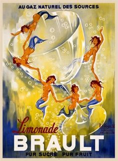 Brault Limonade by Noyer 1938 France -