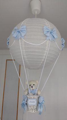 Lámpara globo osito personalizada con su nombre