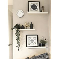 living room shelf decor the beauty revival Ikea Wall Shelves, Wall Shelf Decor, Living Room Shelves, Room Wall Decor, Home Living Room, White Wall Shelves, Shelf Ideas For Living Room, Small Wall Shelf, Floating Shelves Bedroom