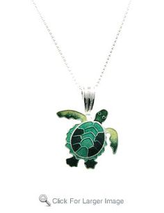 Zarah Seaturtle Sterling Silver Necklace by MervsShop on Etsy, $39.99
