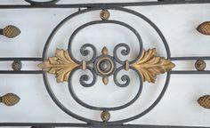 Cast iron window grille period 19th century 2